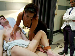 Sexy Nurse Gets Two Submissive Doctors..