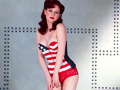 Pin Up Redhead Stunner Angela Ryan..