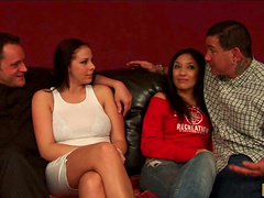 Two Couples Get Together To Share A..