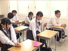 Asian School Girl Sucking Cock in the..