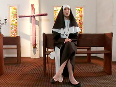 Maia Davis the slutty nun gets..