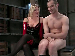 Gorgeous Harmony tortures a guy and..