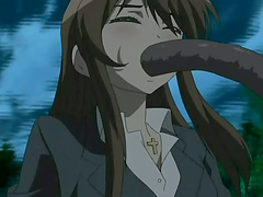 Anime sweetie gets fucked by a monster..