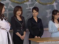 A few Japanese teachers celebrate New..