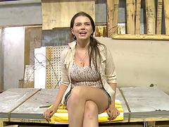 Slutty Marina Visconti gets spanked..