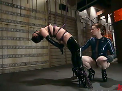 Latex Babes Get Down And Dirty Playing..