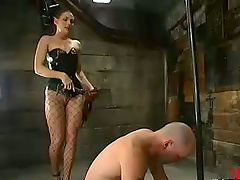 Athletic Guy Falls For A Dominatrix On..