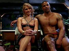 Black Guy Massages Lea Lexis' Feet..