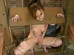 Horny bitch gets hit by electricity..