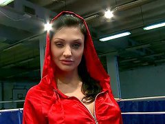 Aletta Ocean and Kissy fight on a ring..