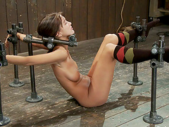 Painful orgasm for a kinky sex slave..