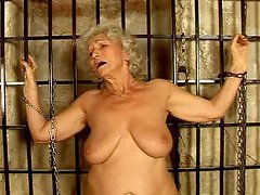 Dungeon sex with a filthy granny that..