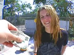 Banging van picks up freak girl..