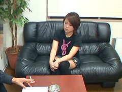 A gorgeous Asian teen has her holes..