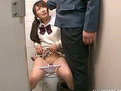 Public restroom sex with a kinky Asian..