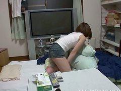Japanese wife enjoys ardent doggy..