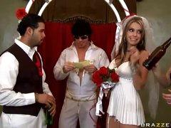 Wedding dress babe fucked by Elvis