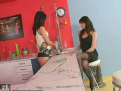 Hot Toying Action Between Lesbian..