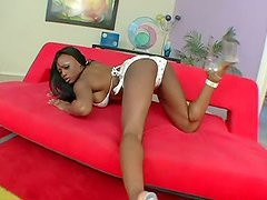 Bit Titty Ebony Gets Her Tight Asshole..