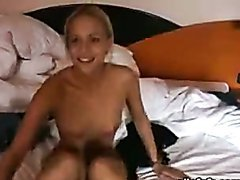 Homemade sex video with amateur blonde