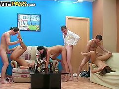 A Crazy House Party Turns Into A Kinky..