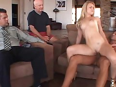 Tiny blonde is being fucked very hard