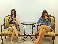Two Teens Playing Around With Pecker..