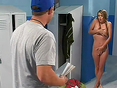 Pigtailed Nicole Brazzle gives a hot..