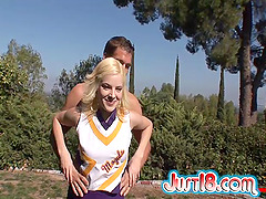 Hot sex outdoors with cheerleading..