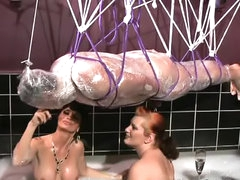 Latex and rubber play in video