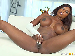 Hot interracial sex scene featuring..