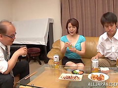 Asian milf is fucked silly by a a..