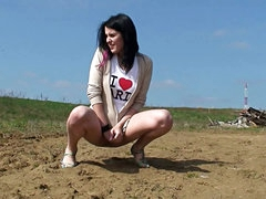 Fetching and hot doll is pissing..