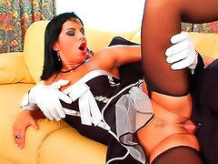 French maid filled with big cock