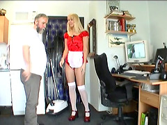 Old Dick Goes Deep Into Young Blonde..