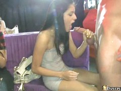 Hot party with sucking sluts