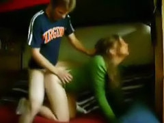 Teen girl in sweater dorm room fuck