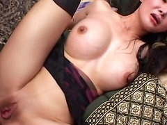 Asian with breathtaking big tits boned
