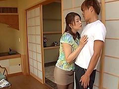 Busty mom Aoi Nagase gives a hot..