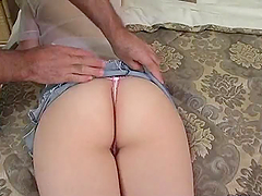 Mary Anne has anal sex and opens her mouth to get it filled with cum
