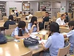 Smoking hot Japanese schoolgirl gets..
