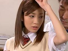 Kaori Maeda sucks and deepthroats a..