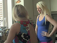 Chubby blonde milf teaches her..