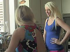 Chubby blonde milf teaches her..