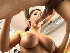Gagging deepthroat BJ and titjob