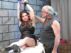 Kinky couple submits in the dungeon