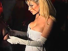 Submissive blonde skank Celia Blanco..