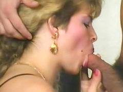 Retro porn with blonde in stockings