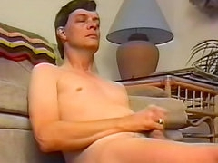 Vintage gay blowjob and stroke scene