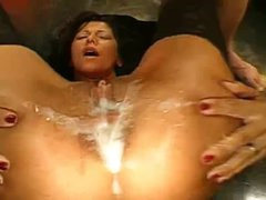 Jizzzed up group fuck slut